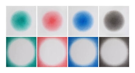 Ignacio Uriarte, 'Positive and negative circular gradings (Green, Red, Blue, Black)', 2015