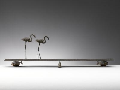 Nicola Lazzari, 'Ricordare e dimenticare (Flamingos and fish)', 2015