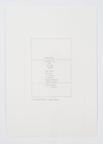 Ayesha Jatoi, 'A melancholic courtesan', 2013