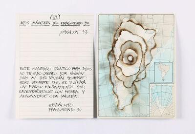 Horacio Zabala, 'Seis imágenes del fragmento 30 (Argentina) III', 1973