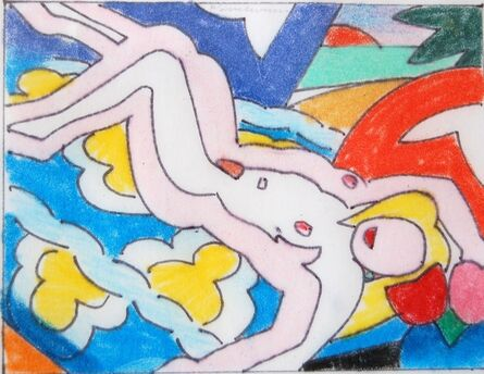 Tom Wesselmann, 'Study for sunset nude with floral blanket', 2003