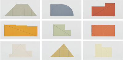 Robert Mangold (b.1937), 'Multiple Panel Paintings, 1973-1976:a book of silk screen Prints', 1977