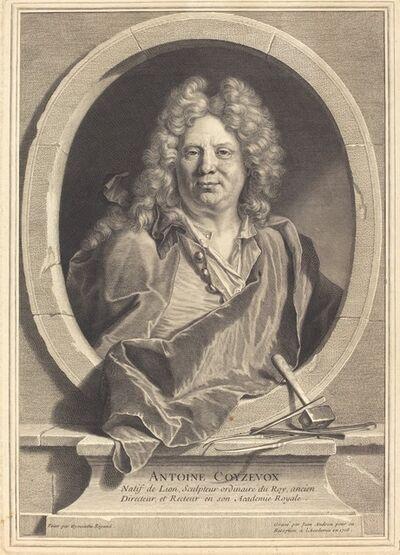 Jean Audran after Hyacinthe Rigaud, 'Antoine Coyzevox', 1708