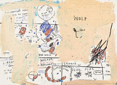 Jean-Michel Basquiat, 'Wolf Sausage', 2019