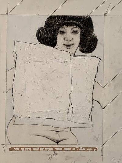 """Alfred Leslie, '""""Drawing for sculpture"""" 1963', 1963"""