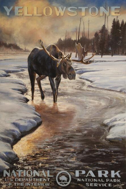 Jennifer Johnson, 'Yellowstone National Park / Winter Moose', 2020