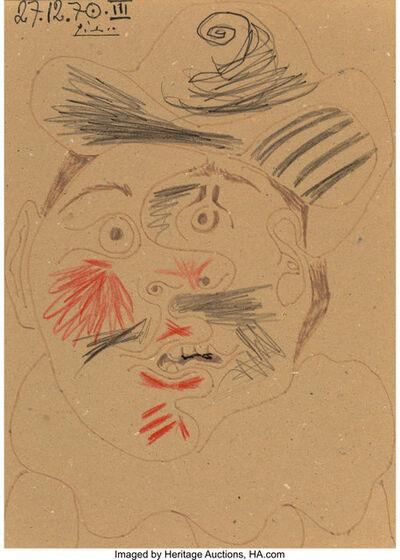 Pablo Picasso, 'Tête d'homme', 1970