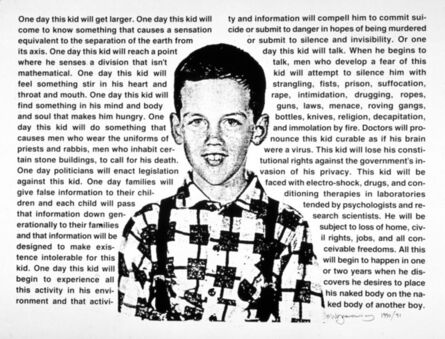 David Wojnarowicz, 'Untitled (One Day This Kid Will Get Larger)', 1990-1991