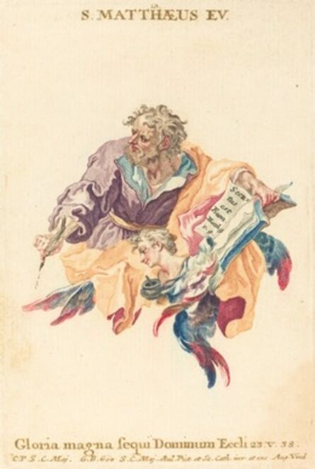 Gottfried Bernhard Götz, 'Saint Matthew the Evangelist'