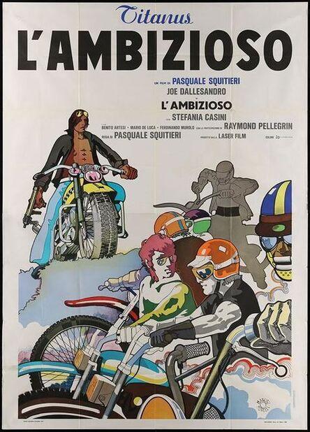 Anon, 'CLIMBER Italian Two Panel 1975 different Morelli art of Joe Dallesandro & bikers on motorcycles!', 1975