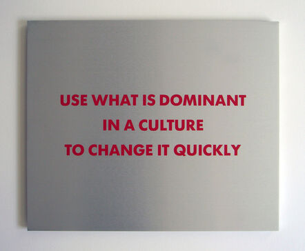 Jenny Holzer, 'Selection from the SURVIVAL SERIES (Use what is dominant...)', 1983-1985