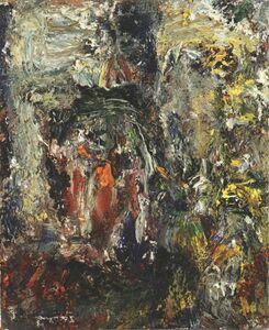Eugène Leroy, 'Tête et paysage', 1990