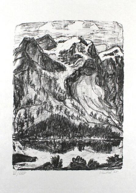 Erich Heckel, 'Berghang am See', 1965