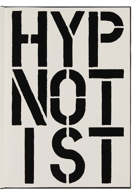 Christopher Wool, 'Hypnotist (page from Black Book) ', 1989