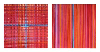 Luisa Editore, 'Study in red with blue coordinates', 2014