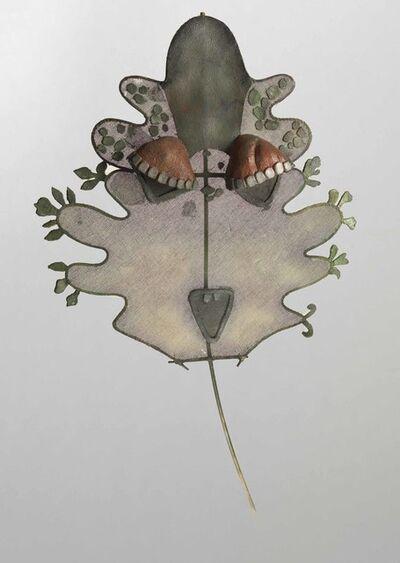 Leonora Carrington, 'Green Mask With Eyelashes', 1976