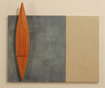 David Ruddell, 'Blackboard, Cement, Fir and Boat', 2010