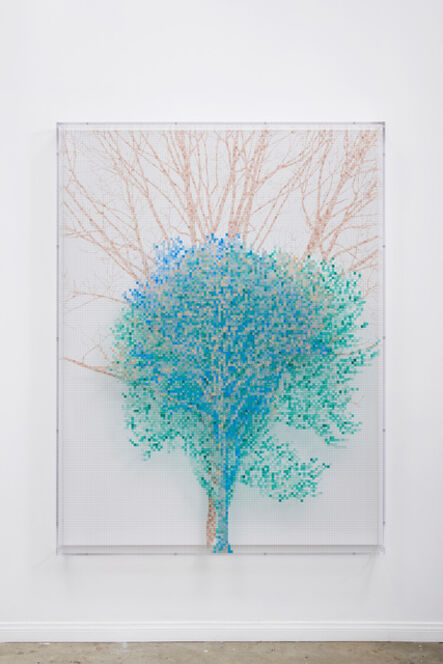 Charles Gaines, 'Numbers and Trees: Central Park Series IV: Tree #3, Sol', 2017