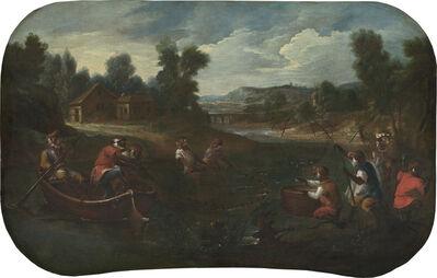 Christophe Huet, 'Singerie: The Fishermen', ca. 1739