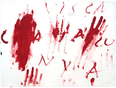 Antoni Tàpies, 'Visca Catalunya', 1976