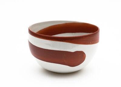Ken Akaji, 'Aka-e bowl with spiral pattern', 2015