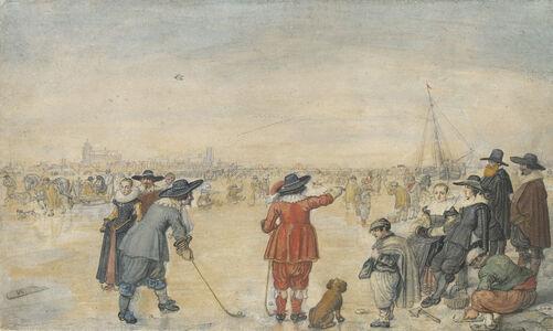 Hendrick Avercamp, 'Winter Games on the Frozen River Ijssel', ca. 1626