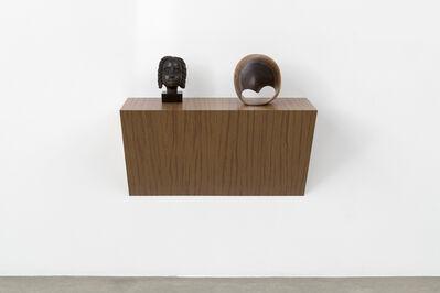 "Haim Steinbach, '""Untitled (Jamaican head, Möbius strip)""', 2014"