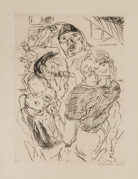 Max Beckmann, 'FLIEGERBESCHIESSUNG', 1915
