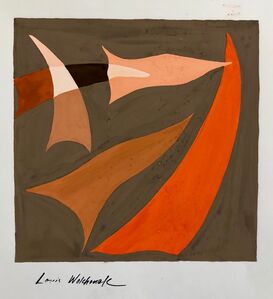 Louis Wolchonok, 'Abstract Expressionist Color Gouache Painting Mid Century Mod WPA Jewish Artist', 20th Century