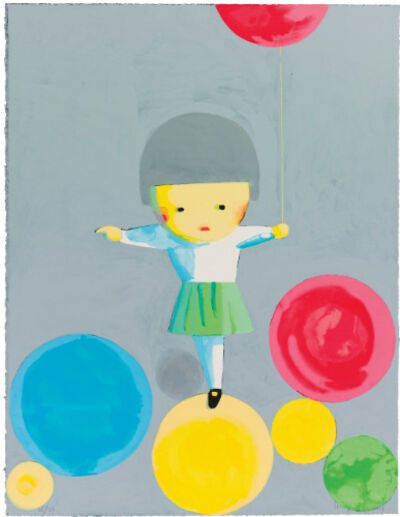 Liu Ye 刘野, 'Little Girl With Balloons (Signed and Framed)', 2001