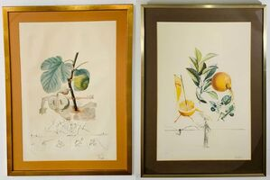Salvador Dalí, 'Salvador Dali Flordali Les Fruits Fig Man & Pamplemousse Erotique, Signed 1969', 1969