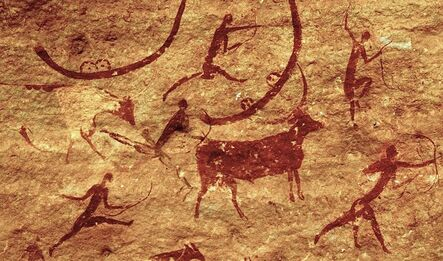 'Section of rock-wall painting', ca. 5000-2000 B.C.