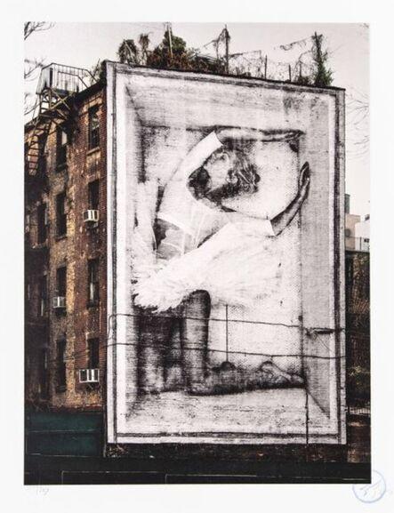 JR, 'Ballet, Ballerina in Crate, East Village, New York City, 2015', 2015