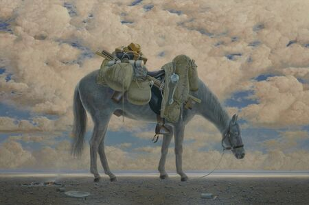 Tim Storrier, 'Equine Impedimenta - Tully's Baggage (late afternoon)', 2019