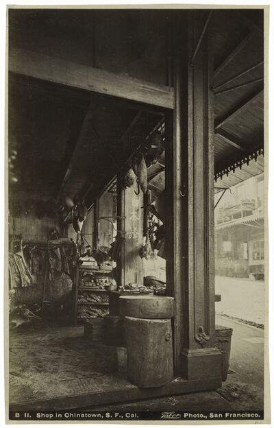 Isaiah West Taber, 'Shop in Chinatown, San Francisco, California', ca. 1880s