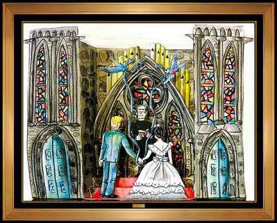 Red Grooms, 'Red Grooms 3D Color Lithograph The Wedding Hand Signed Modern Artwork Sculpture', 1987