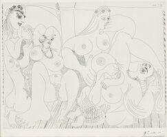 Pablo Picasso, 'Autour du Bain Turc, avec un petit intrus 1970, plate 49 from Séries 156', 1978