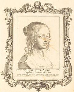 Claude Mellan, 'Henriette Anne of England, Duchess of Orléans'