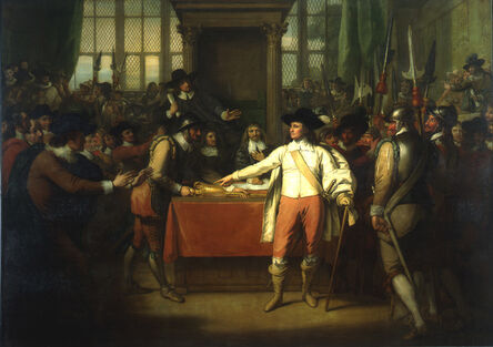 Benjamin West, 'Oliver Cromwell Dissolving the Long Parliament', 1782