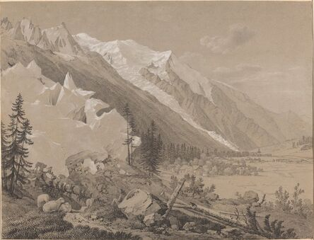 Jean Antoine Linck, 'Vue du Mont Blanc'