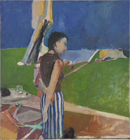 Richard Diebenkorn, 'Girl on a Terrace', 1956