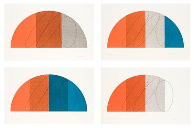 Robert Mangold (b.1937), 'Semi-Circle I-IV', 1995