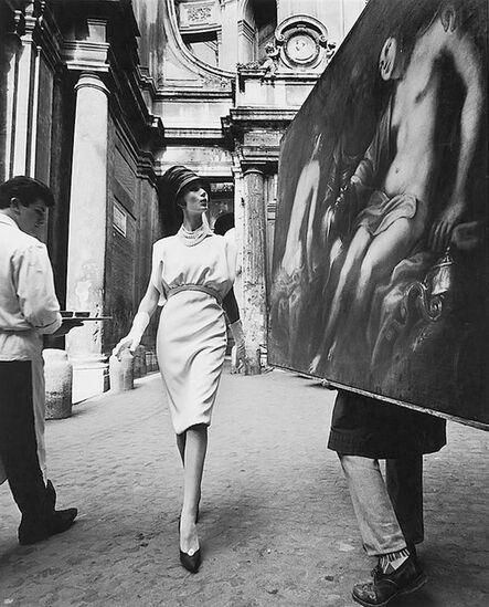 William Klein, 'Simone + painting + coffee, Rome (Vogue)', 1960
