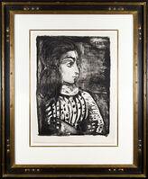 Pablo Picasso, 'Jacqueline de profil (Buste de femme au corsage blanc)', 1958