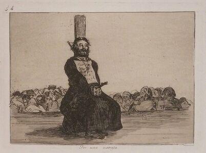 Francisco de Goya, 'POR UNA NAVAJA', 1808-1814