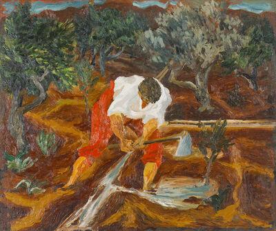 Renato Guttuso, 'Abbeverata all'agrumeto', 1936