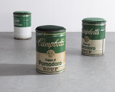 """Simon Gavina, '""""Homage to Andy Warhol"""" Campbell's Soup can stool', ca. 1973"""