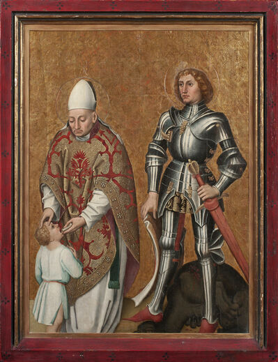 Workshop of the Master of the Sterzing Altar Wings, 'Saint Blaise and Saint George', 1460-1470