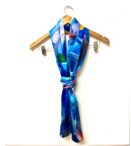 Wang Yazhong 王亚中, 'Artist Collaboration Silk Scarf - the Old Captain', 2019