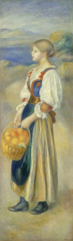 Pierre-Auguste Renoir, 'Girl with a Basket of Oranges', ca. 1889